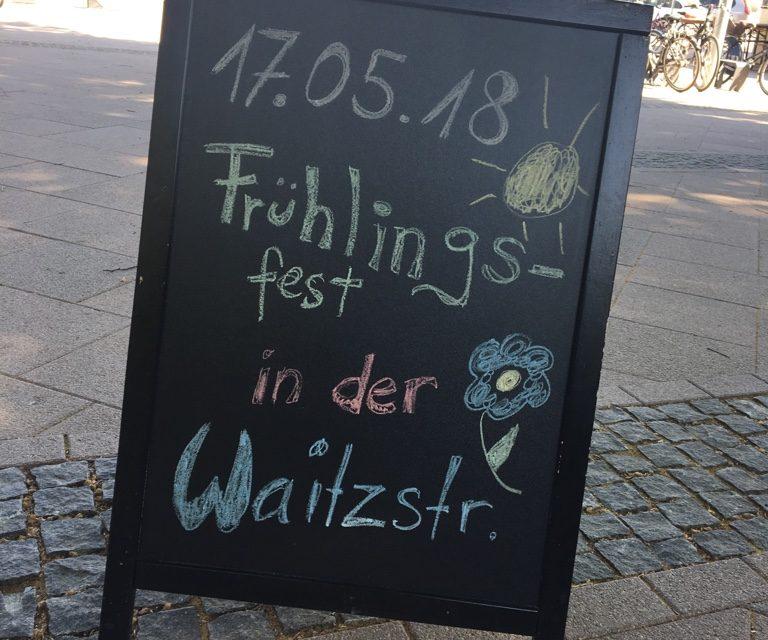 Frühlingsfest in der Waitzstraße